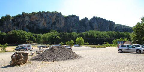 Méandre amont - Falaise Pont d'Arc