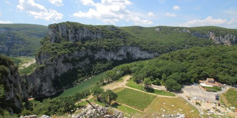 Gorges en amont du Pont d'Arc