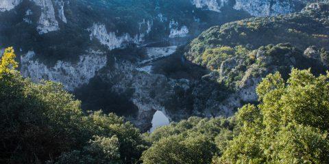 Belvédère du Pont d'Arc sur sentier
