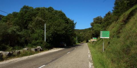 Panneaux d'entrée dans le site classé