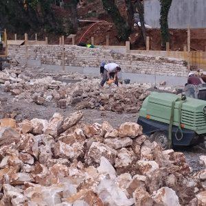 Le nouveau parking « Pont d'Arc – belvédère » sort de terre