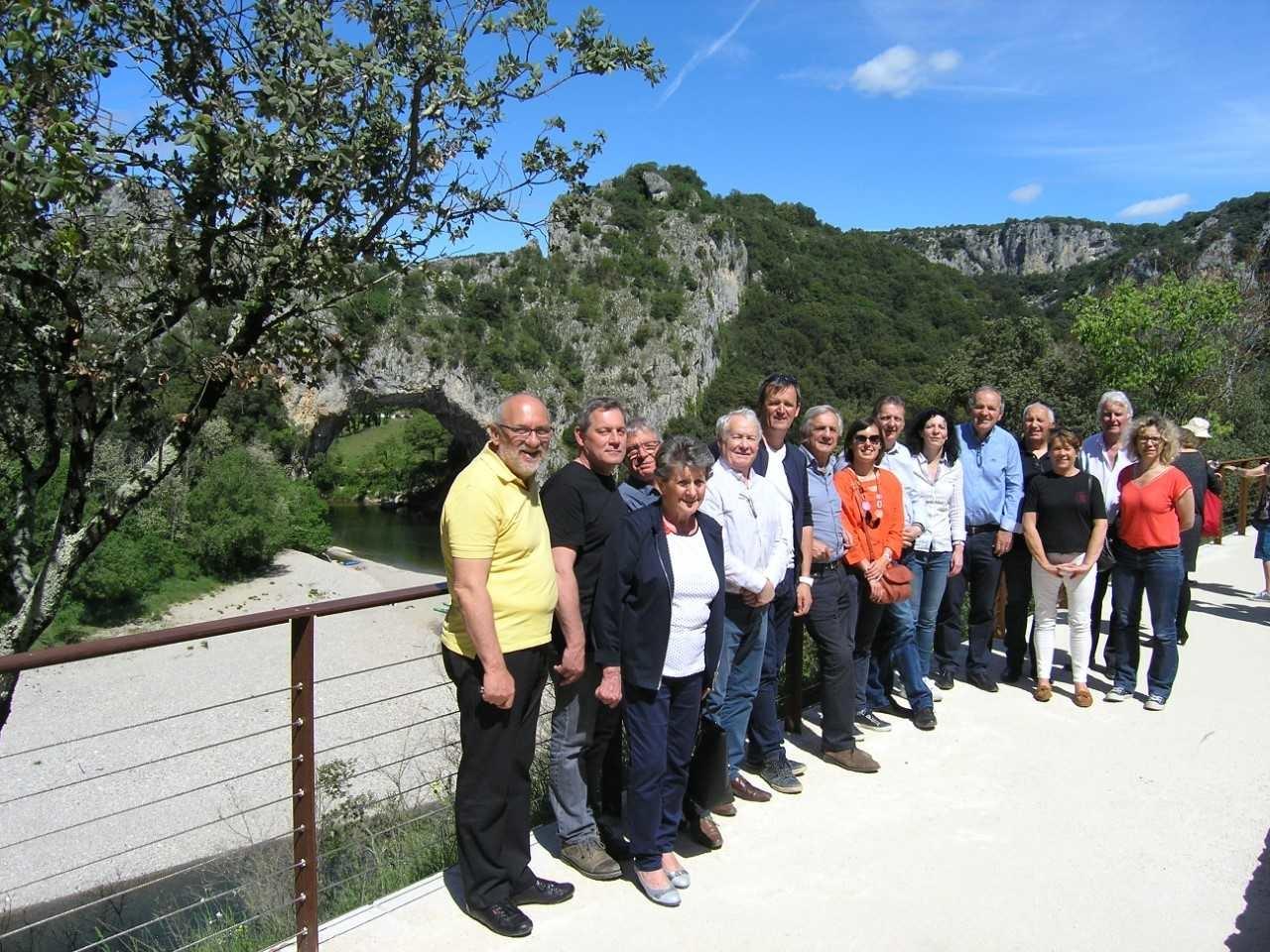 Une délégation de jurassiens en visite en Ardèche