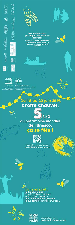Grotte Chauvet, 5 ans au Patrimoine Mondial de l'Unesco, ça se fête !